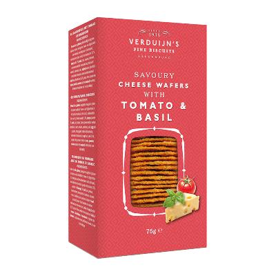 Wafers con queso, tomate y albahaca 85g