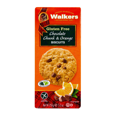 Caja biscuits de naranja con trozos de chocolate 'Chocolate chunk & Orange biscuits' 150g