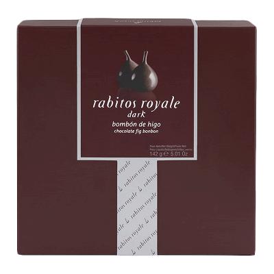 Caja bombón higo relleno de trufa chocolate al brandy y recubierto chocolate negro 142g