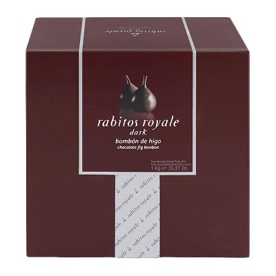 Caja bombón higo relleno de trufa chocolate al brandy y recubierto chocolate negro 4kg