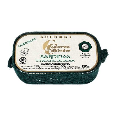 Sardinilla en aceite oliva 16/22 pieza
