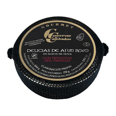 Delicias atún rojo con pimiento piquillo en aceite oliva Rías Gallegas 266g