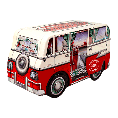 Lata personalizada de bombones praliné leche 'Mini Camper Van' 150g