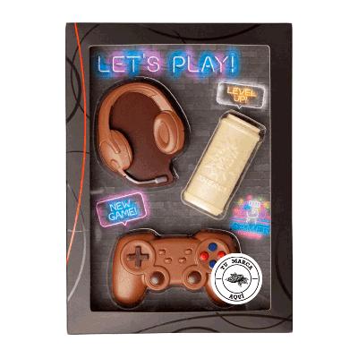 Kit personalizado de chocolate con leche 'Gaming-Set' 100g