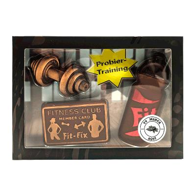 Kit personalizado de chocolate con leche 'Fitness' 125g